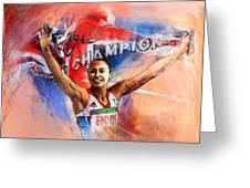 2012 Heptathlon Olympics Gold Medal Jessica Ennis  Greeting Card