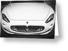 2012 Maserarti Gran Turismo S Bw Greeting Card