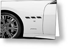 2012 Maserati Gran Turismo S B And W Greeting Card