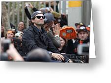 2012 San Francisco Giants World Series Champions Parade - Barry Zito - Img8206 Greeting Card