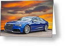 2013 Audi Rs5 Sports Coupe Greeting Card