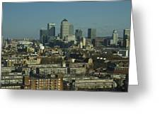 2013 Docklands London Skyline Greeting Card