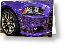 2013 Dodge Charger Headlight Greeting Card
