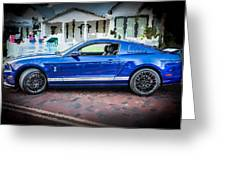 2013 Ford Mustang Shelby Gt 500  Greeting Card