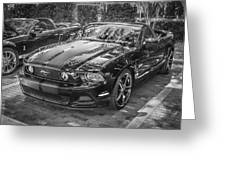 2013 Ford Shelby Mustang Gt 5.0 Convertible Bw  Greeting Card
