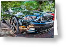 2013 Ford Shelby Mustang Gt 5.0 Convertible Painted   Greeting Card