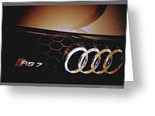2014 Audi Rs7 Logo Greeting Card