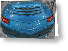 2014 Porsche 911 Carrera S Blue Greeting Card