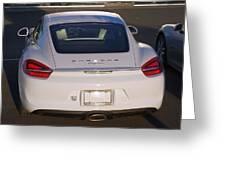 2014 Porsche Cayman White Greeting Card