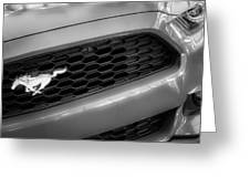 2015 Ford Mustang Prototype Grille Emblem -0092bw Greeting Card