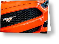 2015 Ford Mustang Prototype Grille Emblem -0092c Greeting Card
