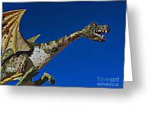 2015 Rose Parade Float Showing A Dragon 15rp039 Greeting Card