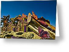 2015 Rose Parade Float With Butterflies 15rp044 Greeting Card