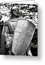 20th Century Gothic Revival Knight Statue Chicago Usa Greeting Card