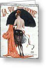 La Vie Parisienne  1920 1920s France Greeting Card