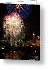 21l106 Red White And Boom Fireworks Photo Greeting Card