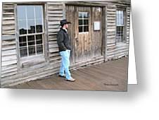 21st Century Cowboy Greeting Card