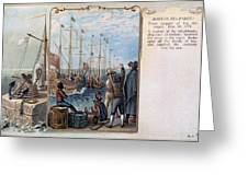 Boston Tea Party, 1773 Greeting Card