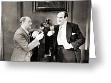 Silent Film Still: Drinking Greeting Card