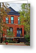 22 W Eugenie St Old Town Chicago Greeting Card