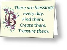 223- Blessings Greeting Card