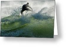 Gulf Coast Surfing Greeting Card