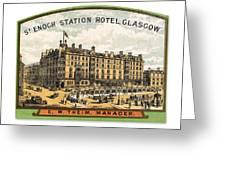Luggage Label Greeting Card
