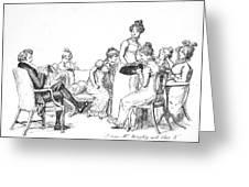 Scene From Pride And Prejudice By Jane Austen Greeting Card