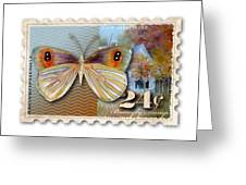 24 Cent Butterfly Stamp Greeting Card
