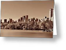 Central Park Autumn Greeting Card