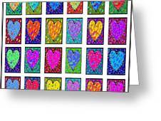 24 Hearts In A Box Greeting Card