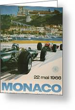 24th Monaco Grand Prix 1966 Greeting Card