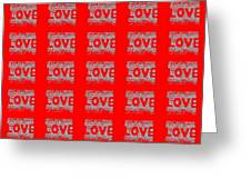 25 Affirmations Of Love In Red Greeting Card