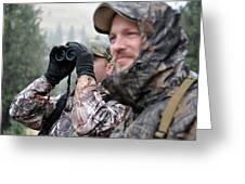 Hunting In Oregon Greeting Card