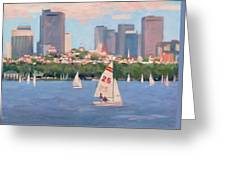 25 On The Charles Greeting Card