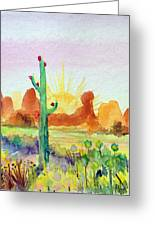 Southwestern Landscape Greeting Card