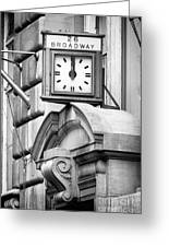 26 Broadway B And W Greeting Card