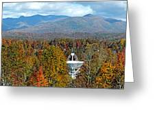26 East And The Blueridge Panoramic Greeting Card