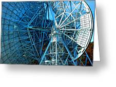 26 East Antenna Abstract 1 Greeting Card