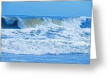 Hurricane Storm Waves Greeting Card
