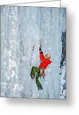 Ice Climbing Greeting Card