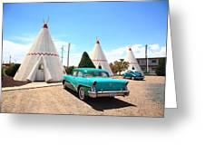 Route 66 Wigwam Motel Greeting Card