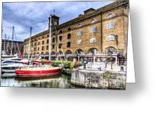St Katherines Dock London Greeting Card