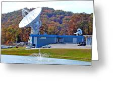 26 West Antenna And Research Building Greeting Card