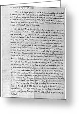 Declaration Of Independence Greeting Card
