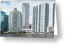 Skyscrapers At The Waterfront Greeting Card