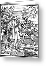 Dance Of Death, 1538 Greeting Card