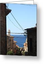 Tossa De Mar Costa Brava Greeting Card