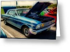 289 Ford Fairlane 500 Hdr Greeting Card