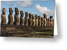 Easter Island Moai Greeting Card